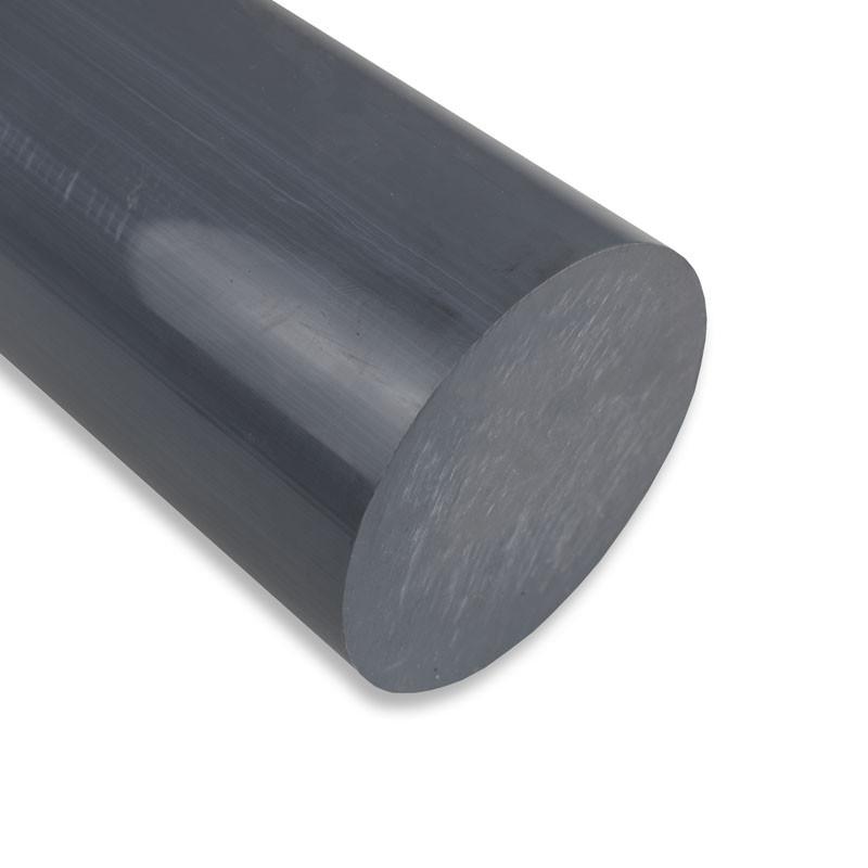 Diamètre ⌀100 PVC Rond en Barre / Tige Couleur Gris